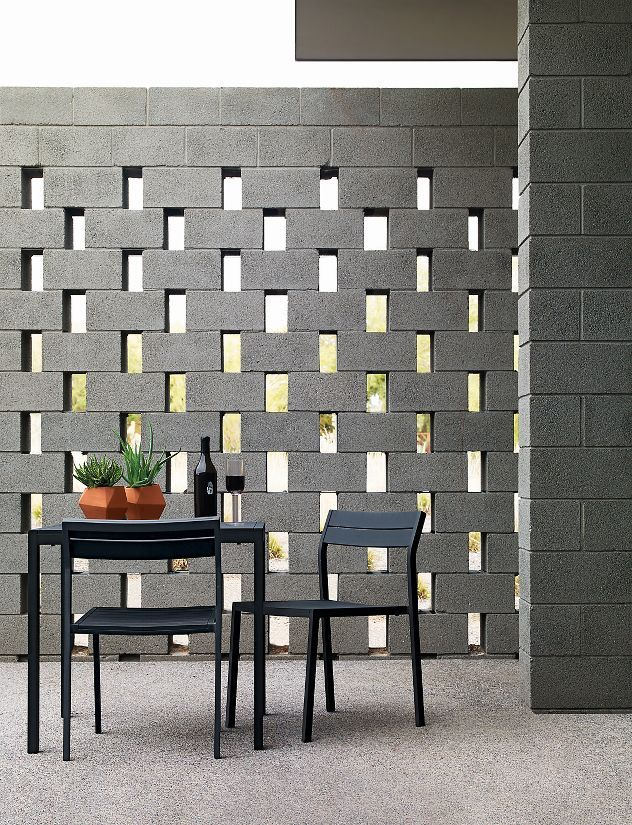 Design Within Reach Eos Square Table | Breeze block wall ...