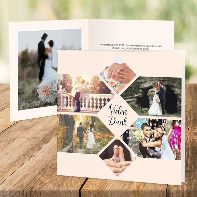 Dankeskarte Hochzeit Forever Creme  Danksagung  Hochzeit