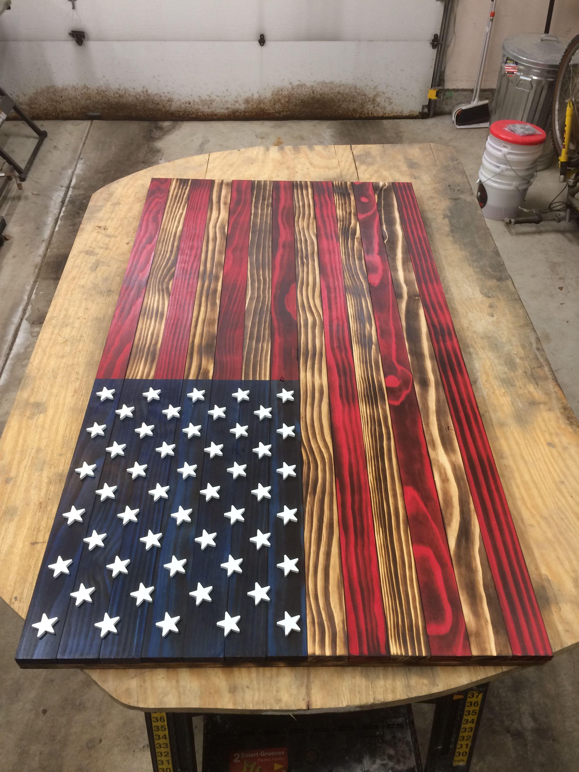 American Wood Flag American Flag Wood Wood Flag Diy Wooden American Flag
