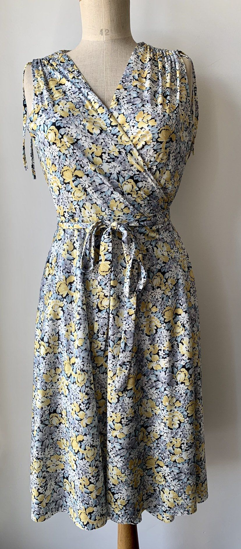 Summer vibes ?️?️?️ now available online: Pale yellow blue wrap dress, #weddingguest #dress explore…