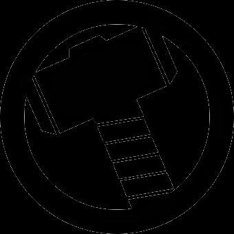 Thor Logo Png Simbolos De Super Herois Simbolo Dos Vingadores Super Heroi