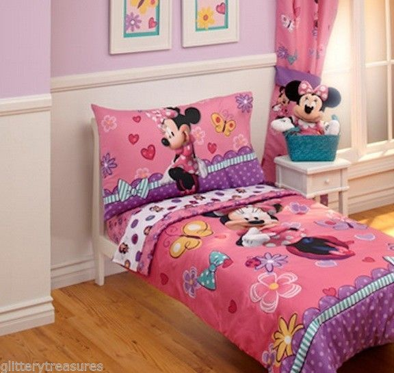 Details About New Girls Disney Minnie Mouse 4 Piece Toddler