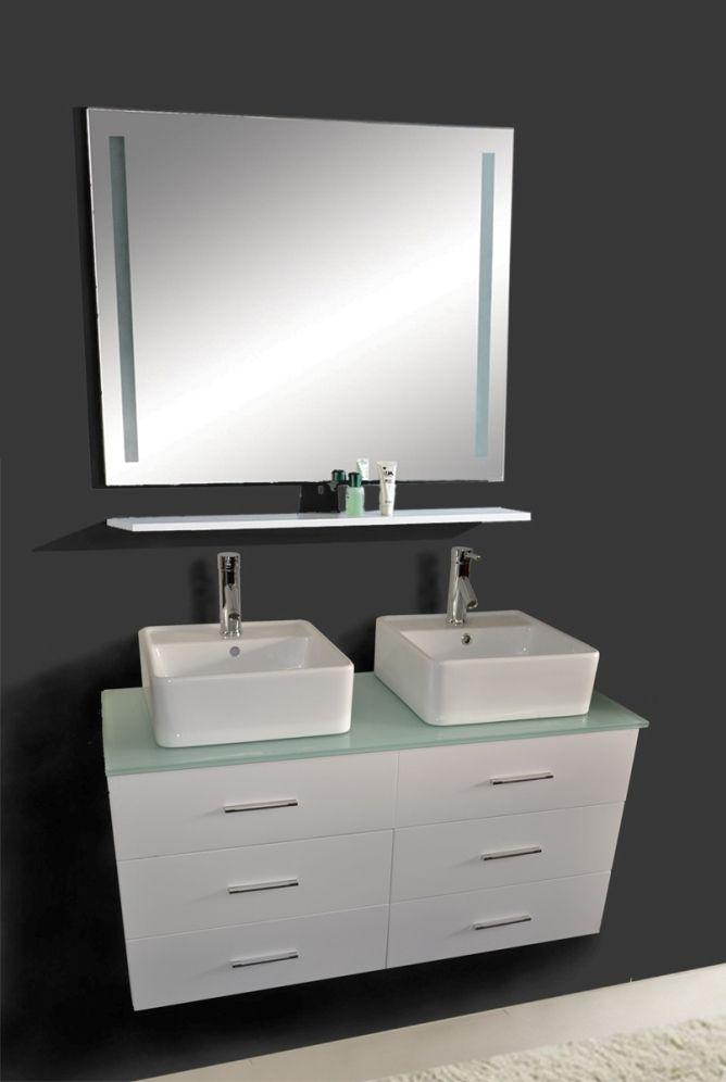 "Small Double Vanity 47"" | Modern bathroom vanities grey ..."