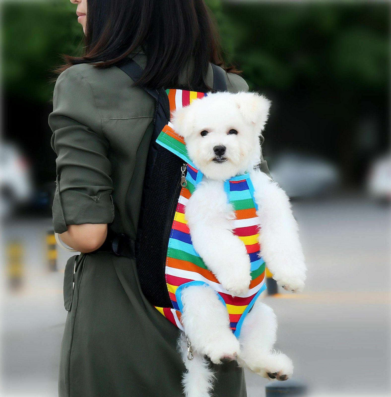 Pet Carrier Backpack Adjustable Pet Front Cat Dog Carrier