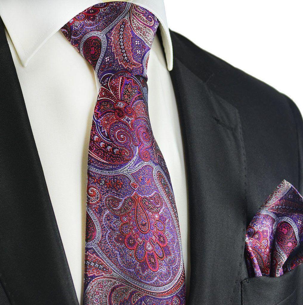 Pocket Square by Paul Malone Purple 100/% Silk Tie a