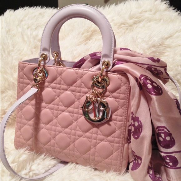 Lady Dior tri-color limited edition Tricolored with pink lavender beige.  Ask for more information. Dior Bags Crossbody Bags 358ce1001c