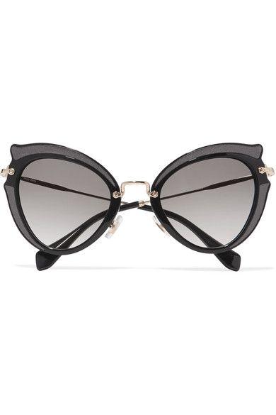 ff175a33bf MIU MIU Embellished cat-eye acetate and gold-tone sunglasses.  miumiu   sunglasses