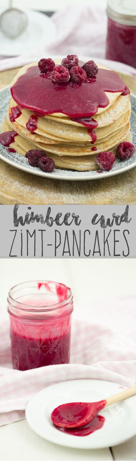 himbeer curd auf zimt pancakes rezepte pinterest pfannkuchen himbeeren und zimt. Black Bedroom Furniture Sets. Home Design Ideas
