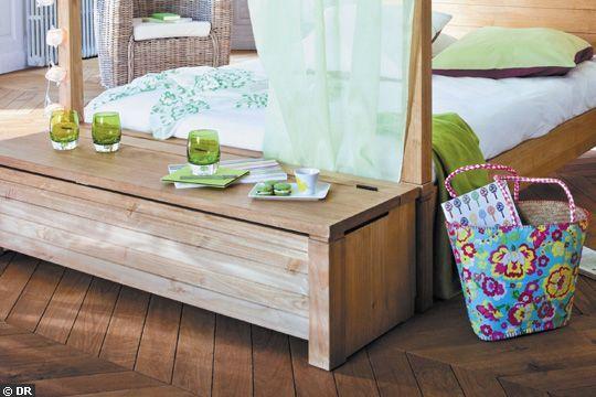 pratique et simple a la fois ce bout de lit en bois la douceur du bois brut cotemaison fr