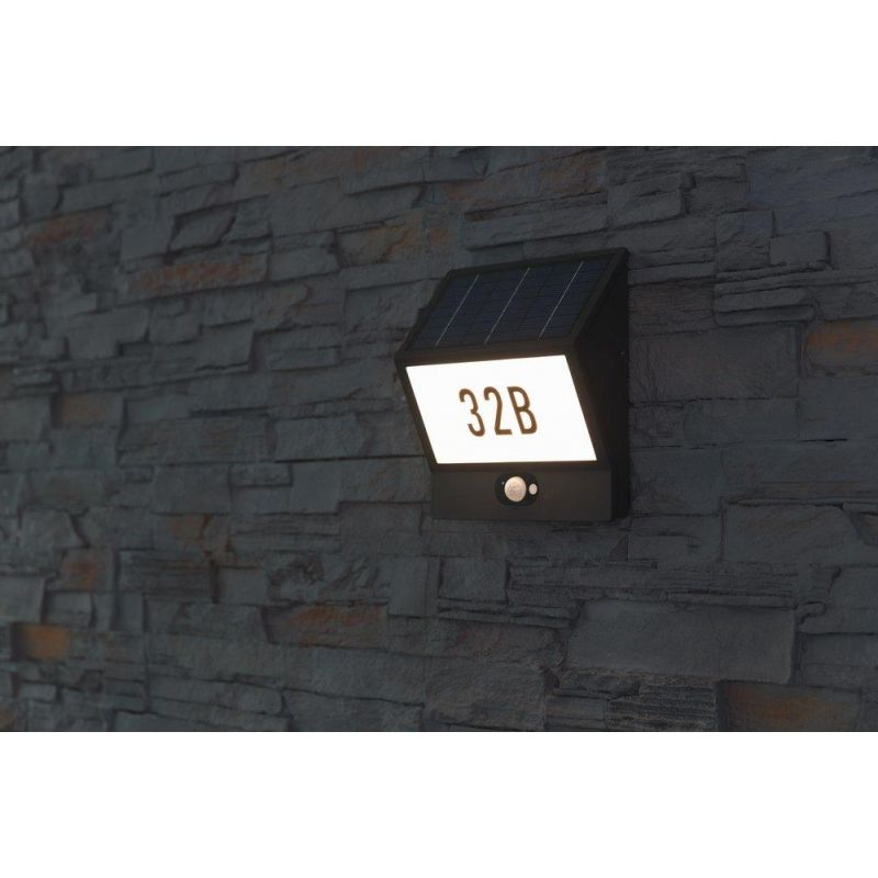 Solar LED Hausnummernleuchte Andrea #solarleuchten #hausnummernleuchten  #hausnummer #solar #wandleuchten #heitronic