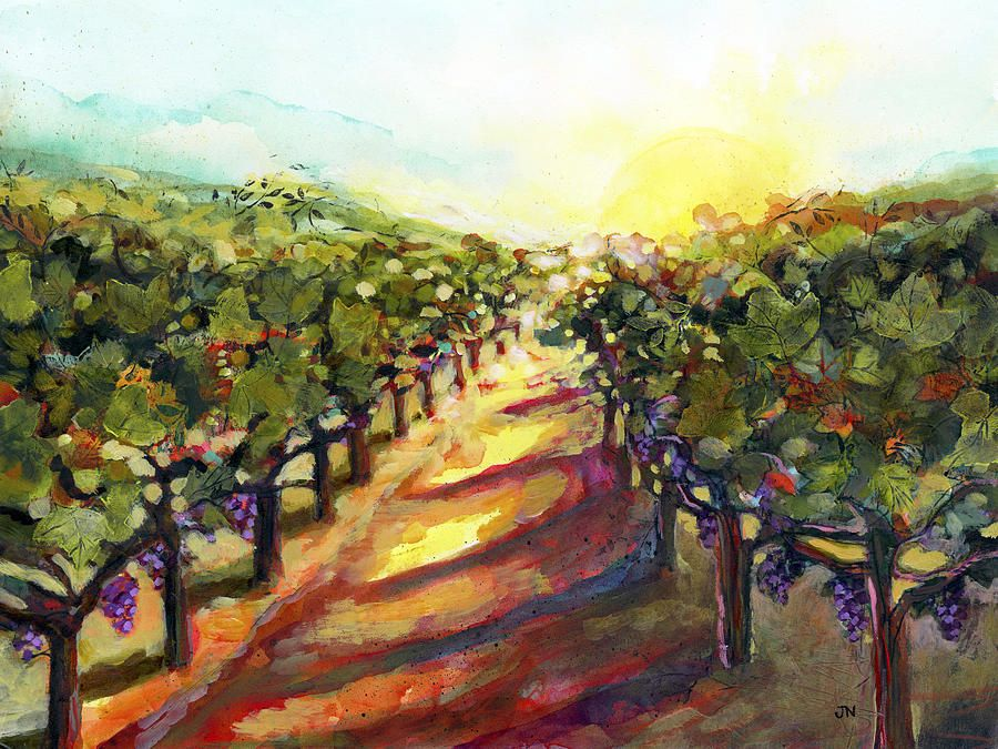 Sunrise In Napa Painting by Jen Norton