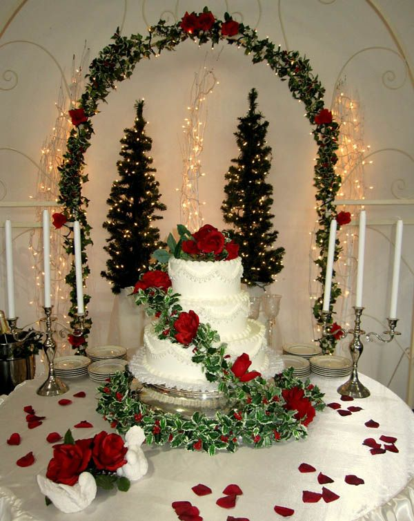 Baby It S Cold Outside Christmas Wedding Cakes Christmas Wedding Themes Christmas Wedding Decorations