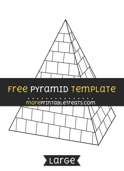 Free Pyramid Template - Large Shapes and Templates Printables - pyramid template