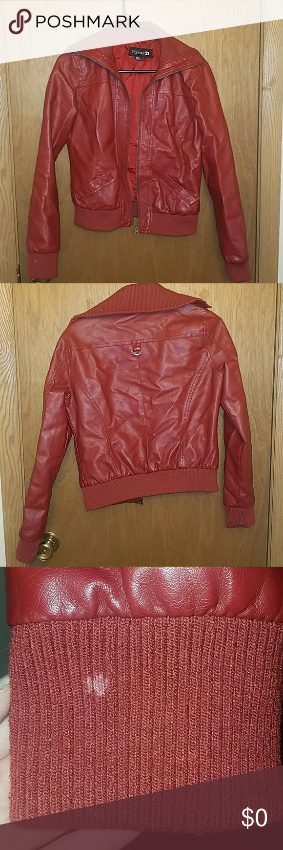Red Leather Jacket Red Leather Jacket from Forever 21