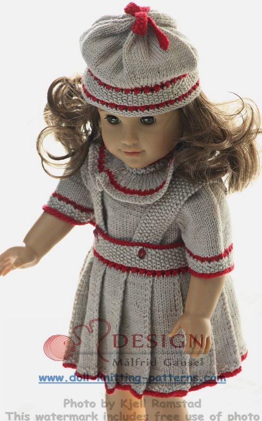 Puppenkleidung stricken … | Muster | Pinte…