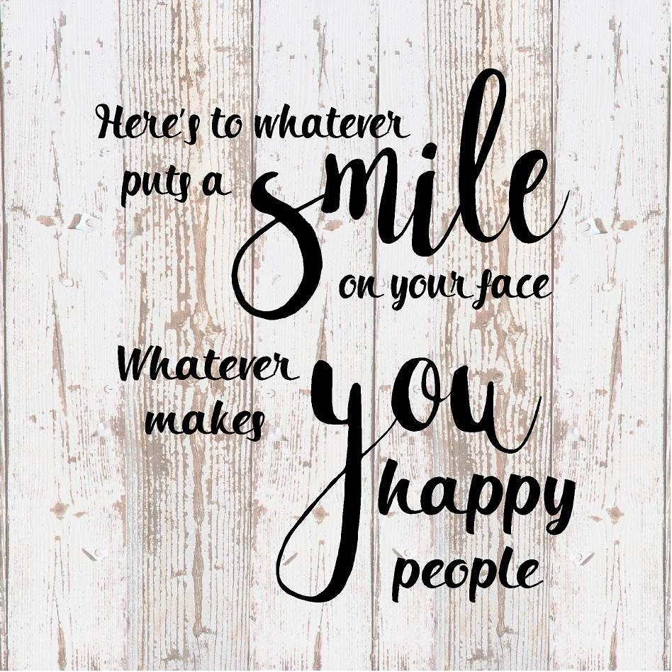 Hereu0027s To What Smile Happy People Wood Sign, Canvas Inspirational   Office  Decor, Bedroom