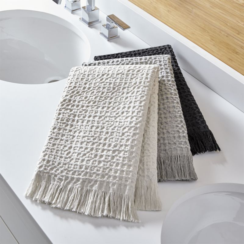 Sola Hand Towels Crate And Barrel With Images Patterned Bath