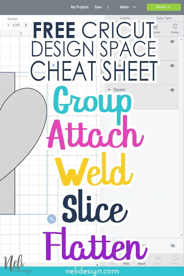 Cheat sheet - Cricut Design Space | NeliDesign