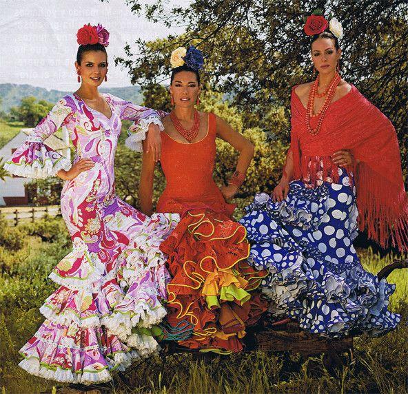 Robes De La Feria De Seville D Espagne Seville Andalousie Andalousie Costume Espagnol Seville