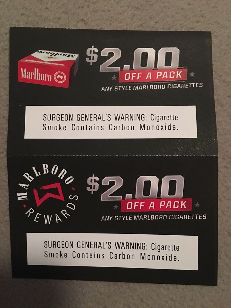marlboro coupons: $3 25 (5 Bids) End Date: Saturday Feb-2-2019 14:41