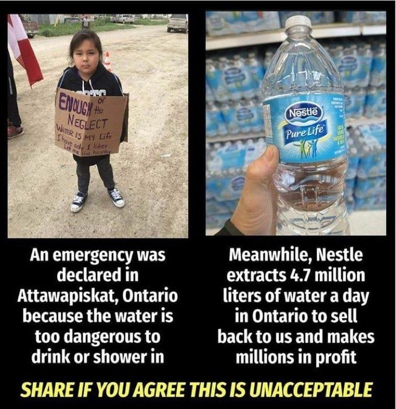 Many First Nation People In Ontario Canada Have Never Had Access To Clean Water And Are Advised To Have In 2020 How To Make Drinks Dasani Bottle Access To Clean Water