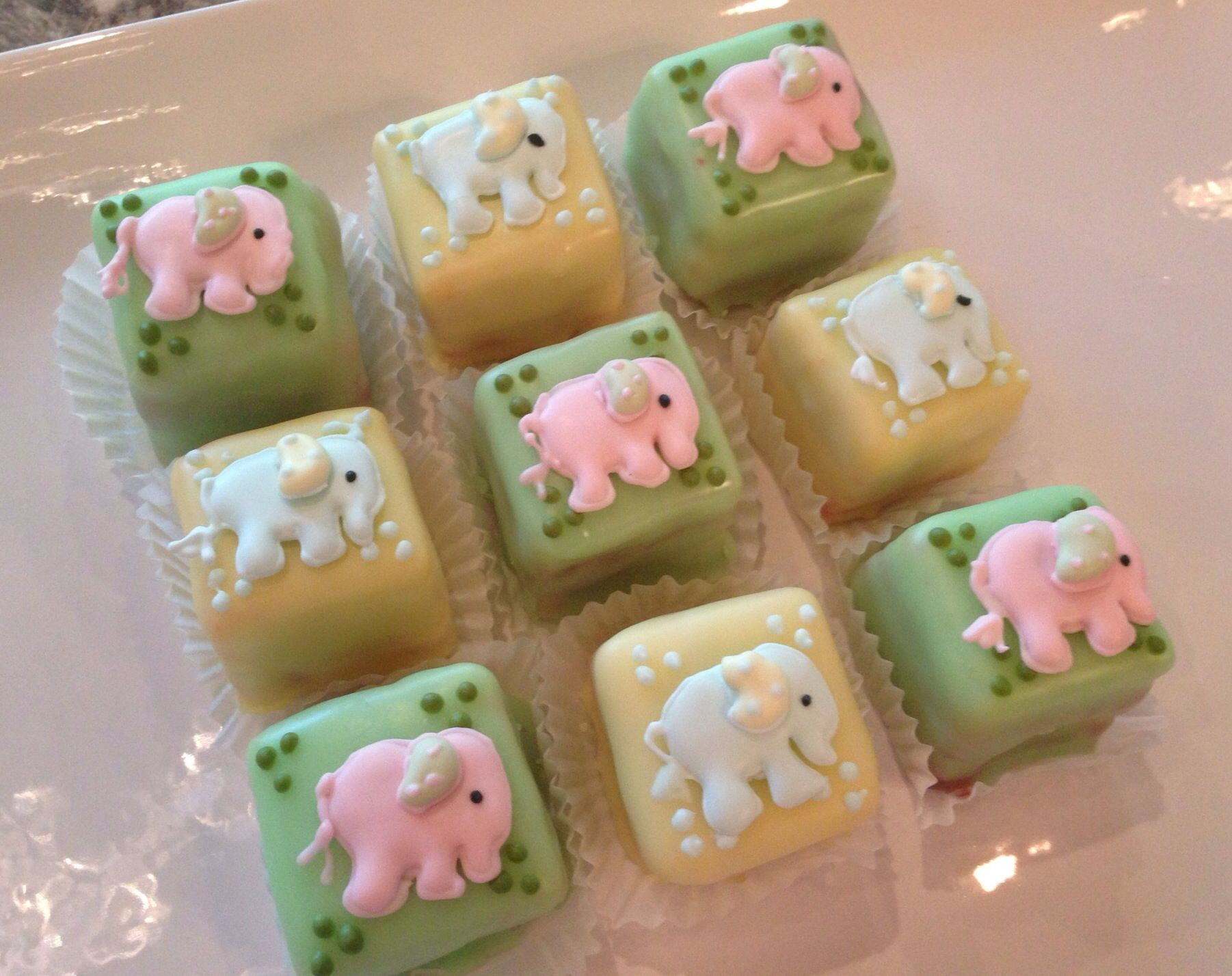 Baby Shower Petit Fours Baby Shower Cakes Pinterest