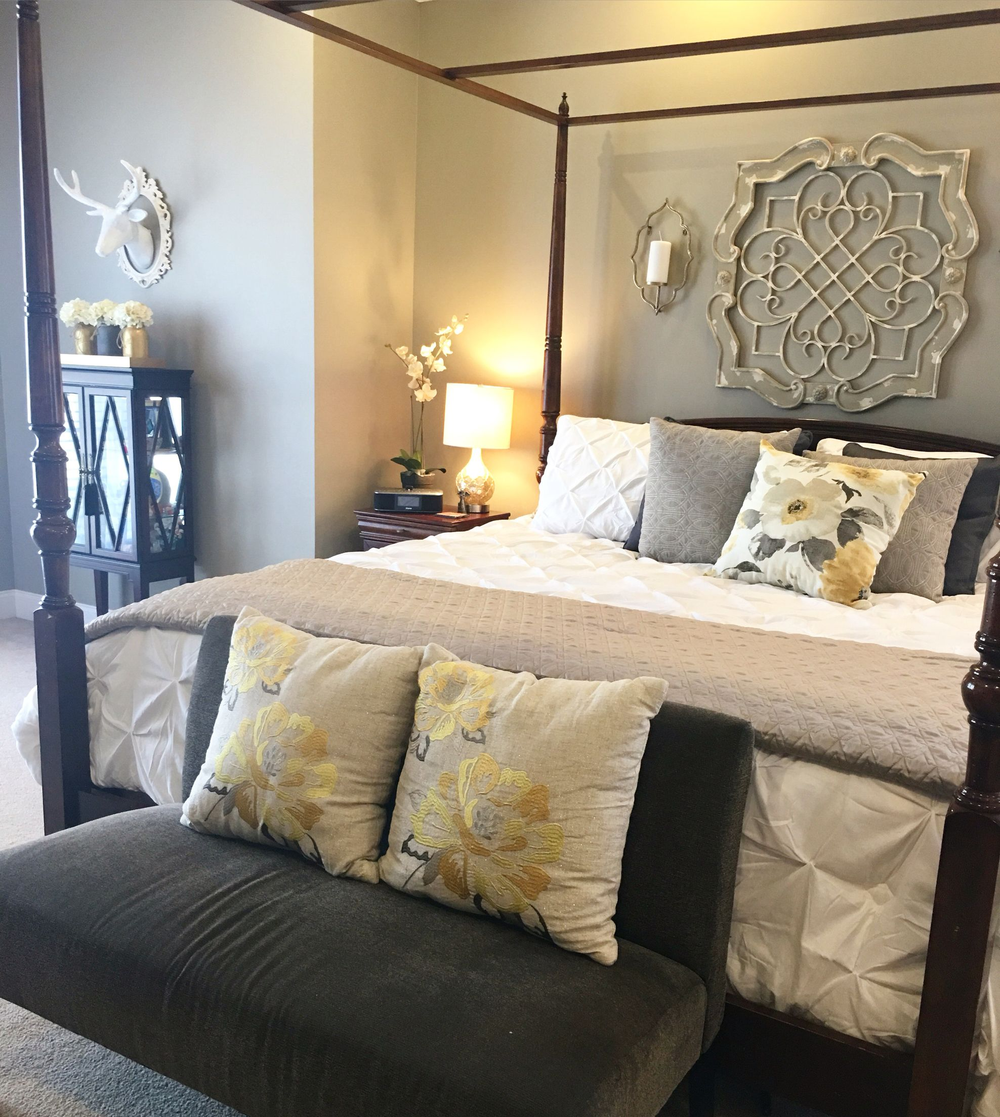 My master bedroom makeover Walls Sherwin Williams Intellectual