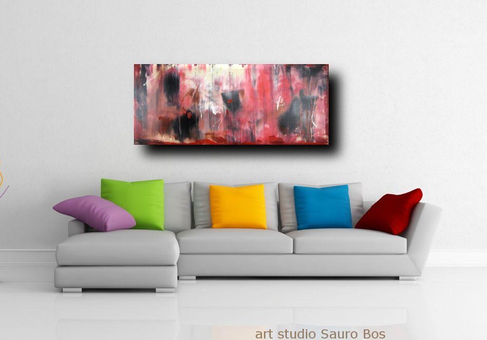 quadri-astratti-informali-soggiorno-rosso-nero   quadri astratti ...