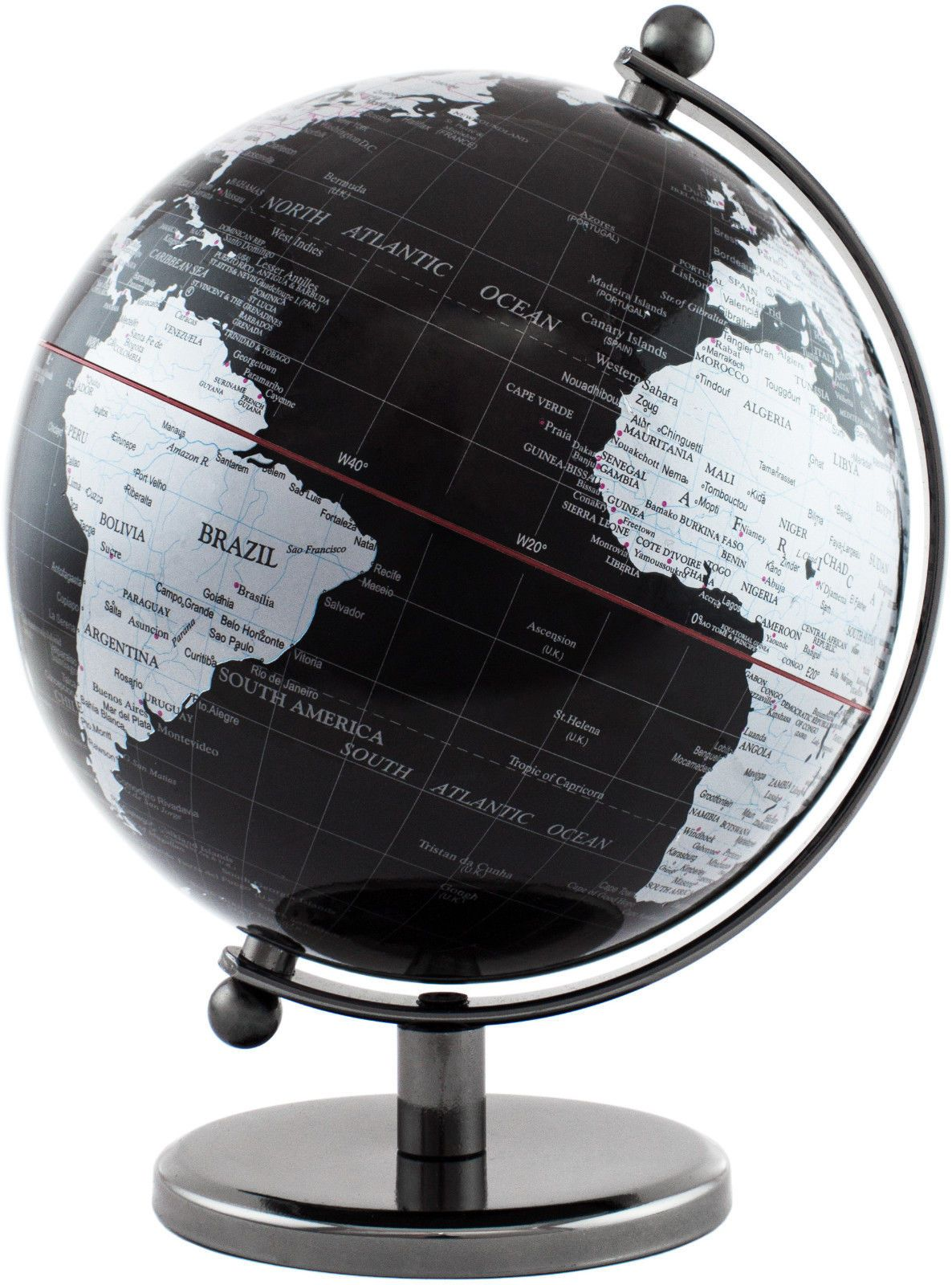 Brubaker Designer Globus 19 Cm Dark Planet Edelstahl Schwarz