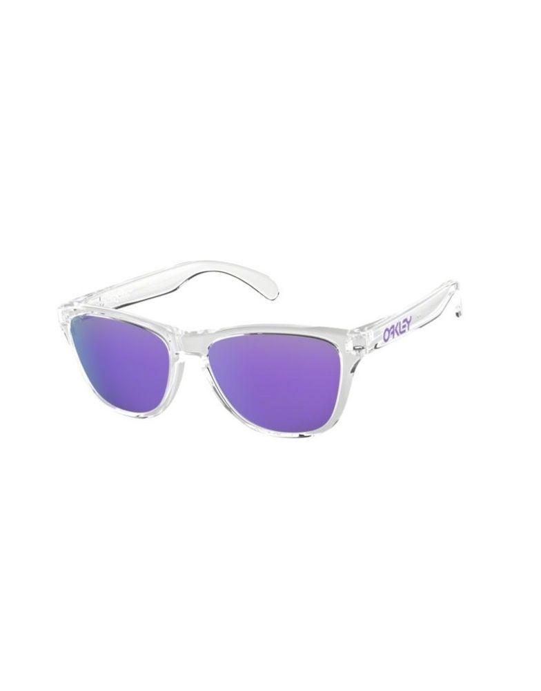 cb1a806eaa ... discount sunglasses oakley frogskins xs 9006 03 polished clear violet  iridium ebay link dbc8d b87b9