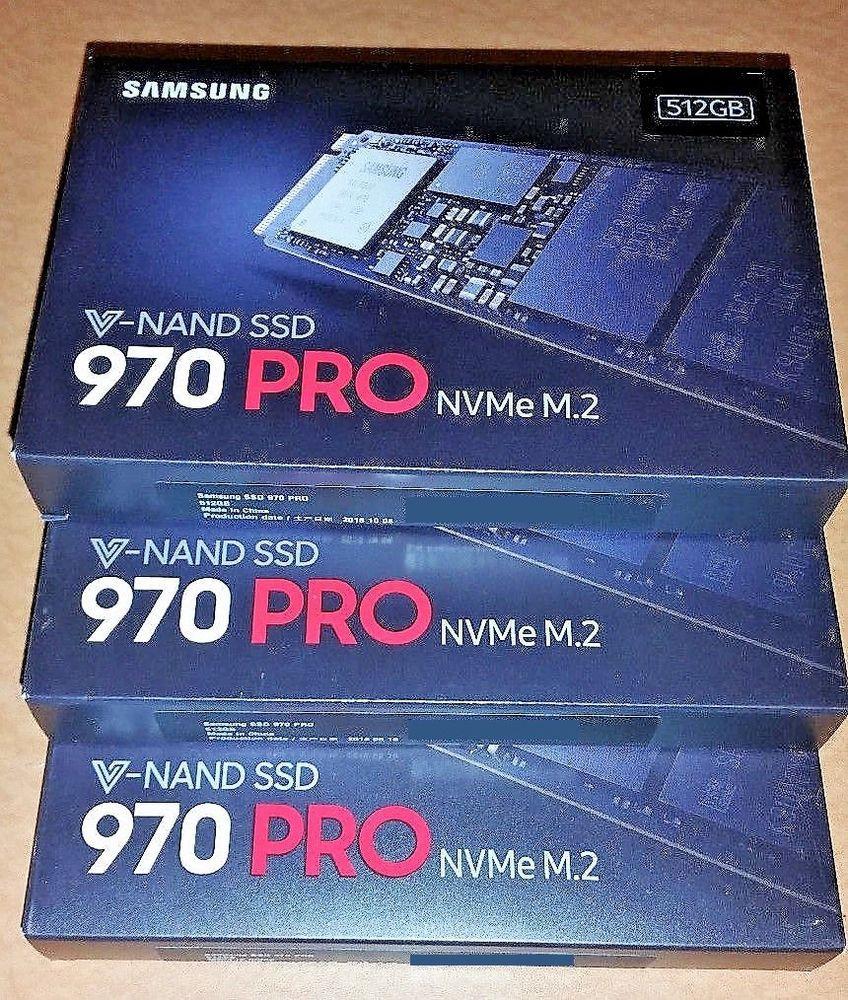 NEW! Samsung 970 Pro MZ-V7P512 NVME 512GB PCI-E M 2 V-NAND