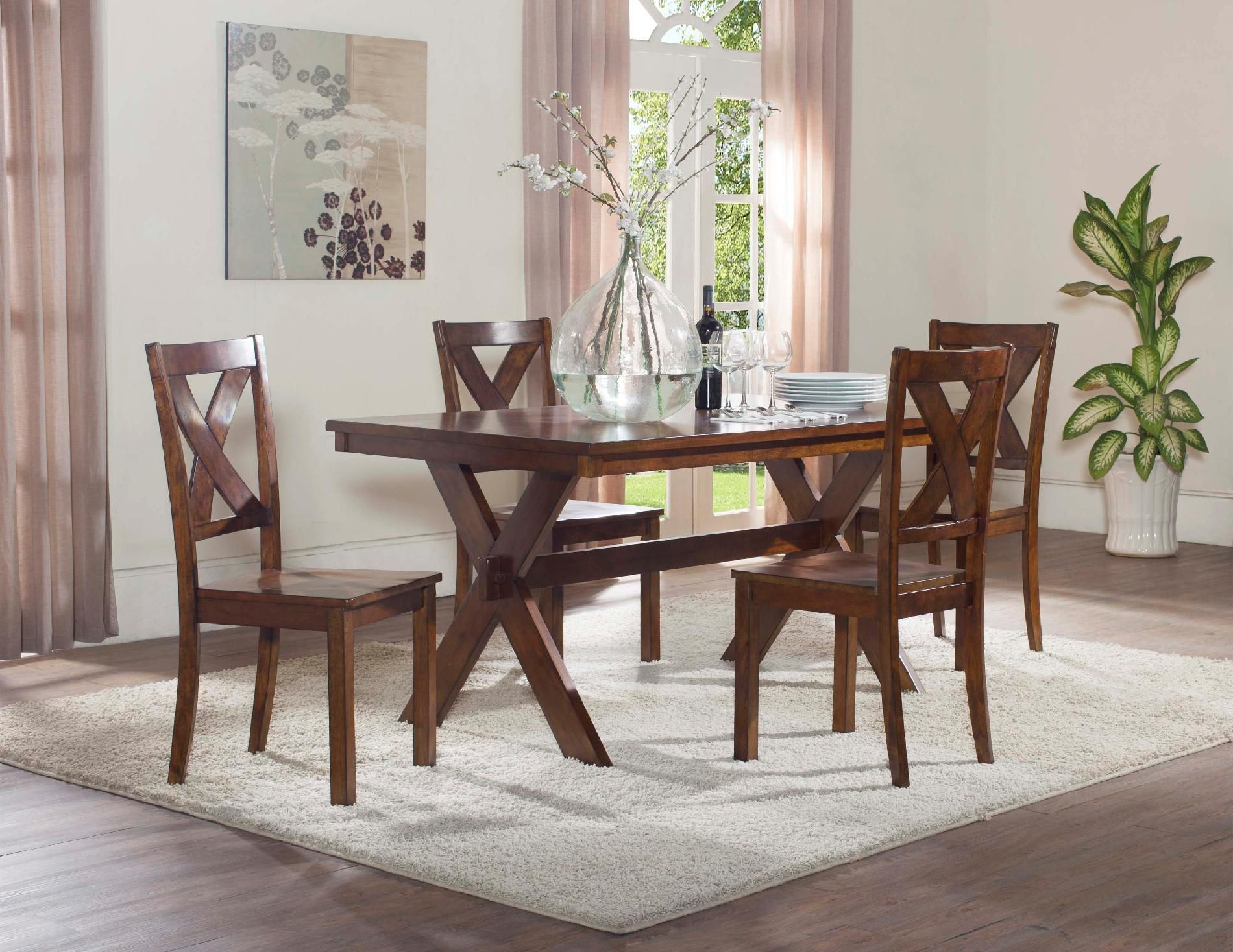 X Back Dining Set Family Dining Furniture at Sears 399 00 for 5
