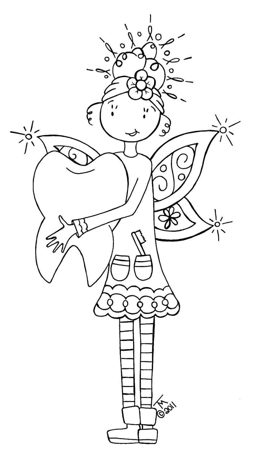TOOTH FAIRY, colour it, sew it, trace it, etc. free