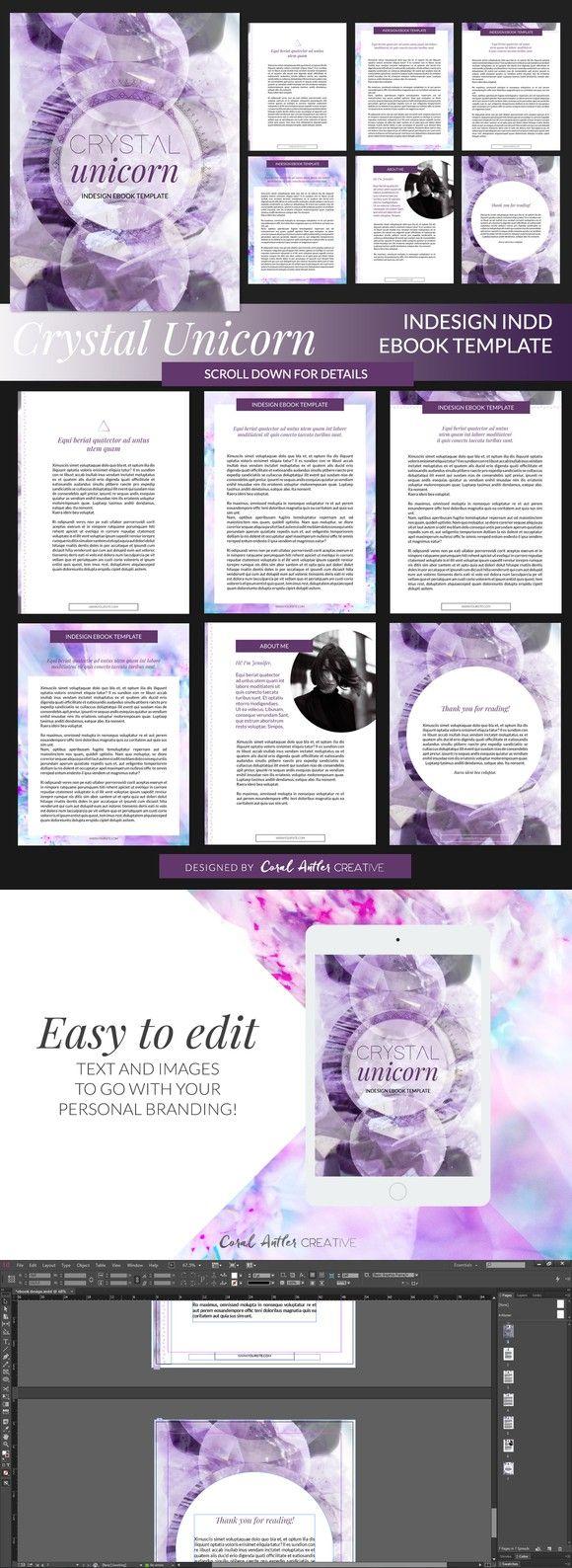 Crystal Unicorn ID Ebook Template | Presentation Templates ...