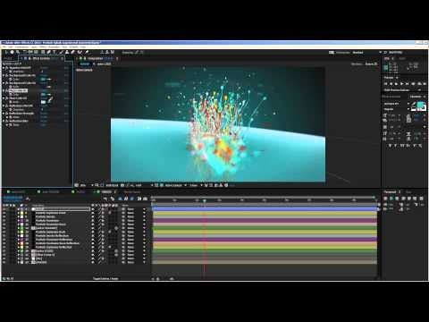 After Effects Tutorial - Particle Splash Logo Reveal
