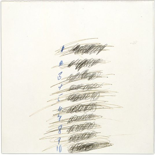 Cy Twombly Letter Of Resignation  Detail See All