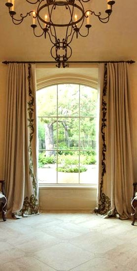 These window treatments old world mediterranean for Old world window treatments