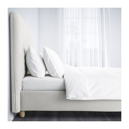 Boxspringbett ikea 180x200  SNEFJORD Bettgestell, hellbeige, Lönset | Bed frames, Bed room and ...