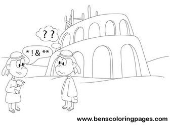 print tower of babel coloring page - Tower Of Babel Coloring Page