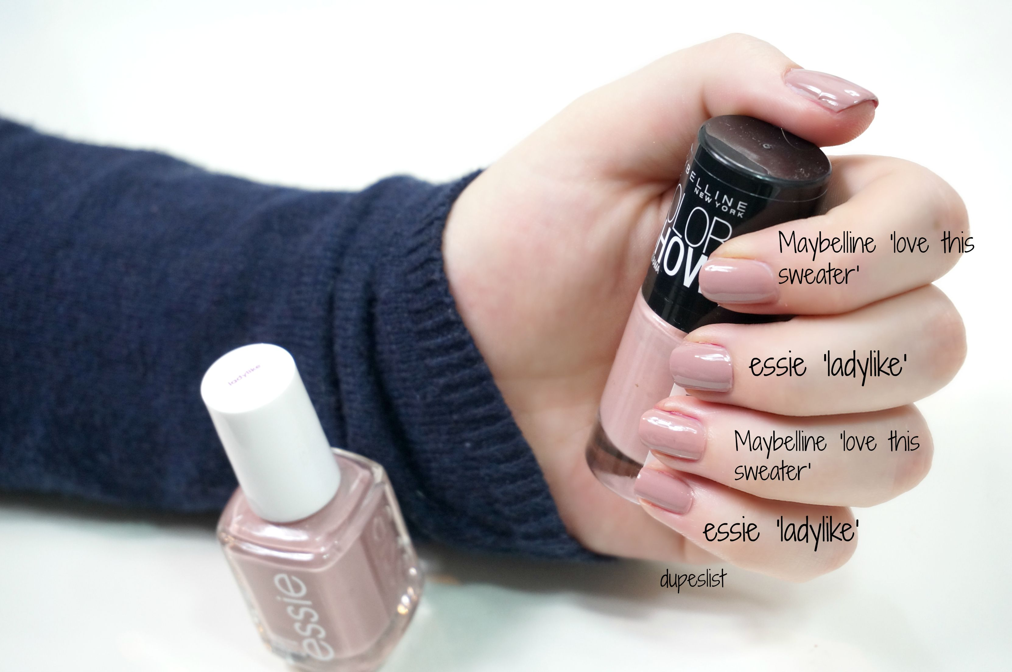 essie ladylike Dupe: Maybelline \'301 love this sweater\'   Makeup ...