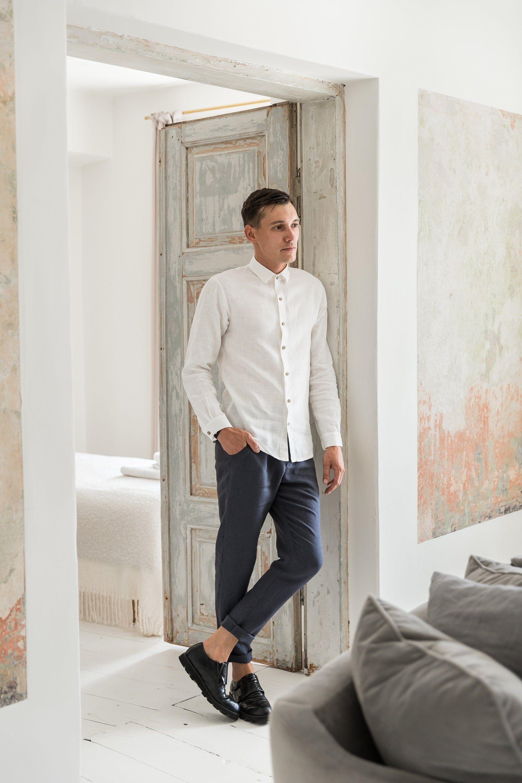 Mens Linen Shirts Classic Linen Shirt Beach Wedding Linen Etsy Linen Shirt Men White Linen Shirt White Linen Shirt Men [ 3000 x 2000 Pixel ]