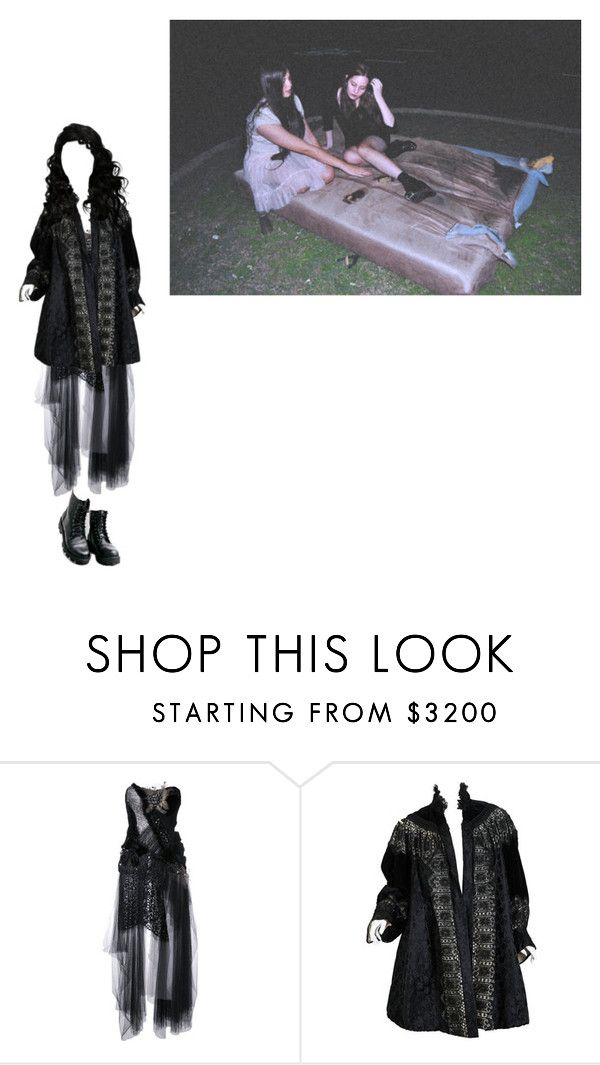 """""""Untitled #286"""" by mermaid-nielsine ❤ liked on Polyvore featuring Trash-Couture, Maria ke Fisherman, black, Dark, witch and witchcraft"""