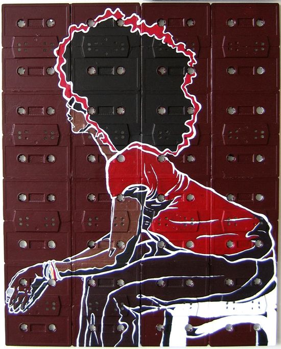 Cassette Tape Canvases - Sami Havia (15 paintings) - My Modern Metropolis