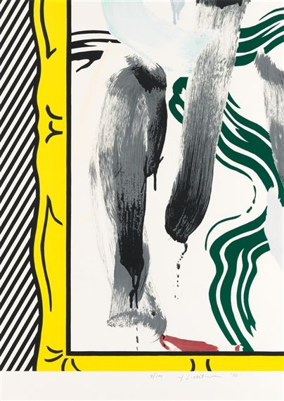 Artwork by Roy Lichtenstein, Against Apartheid, Made of Color lithograph on Arches wove paper