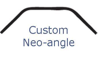 Custom Neo Angle Shower Rod Showers Corner Tub