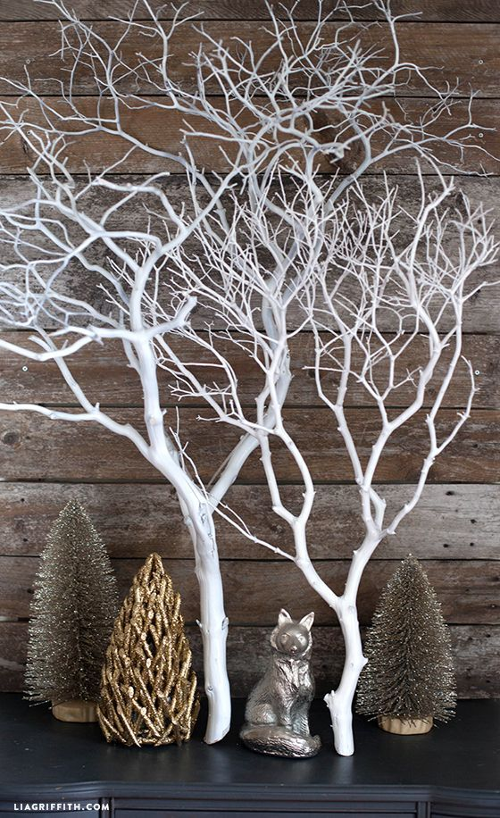 Top christmas decoration made with twigs and branches celebrations also rh pinterest