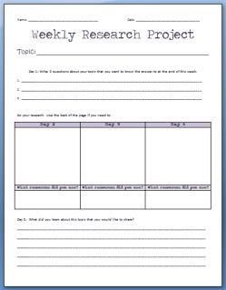 Printable Freebies | forms | Research projects, 3rd grade ...