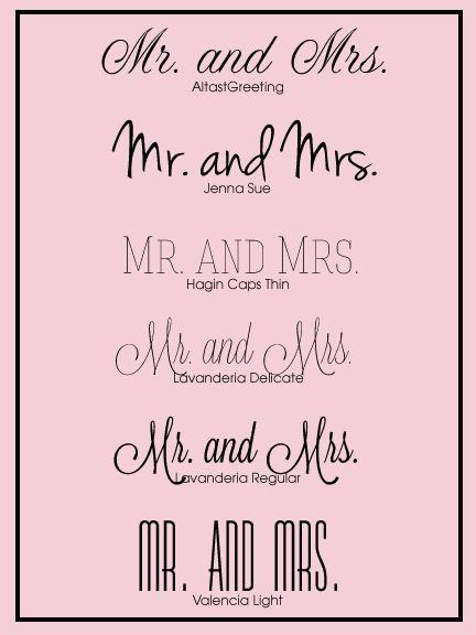 Free Wedding Fonts for your #DIY #wedding #invitations.