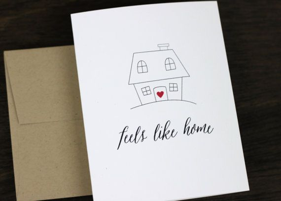 Feels like home anniversary card love card by paperelli on etsy