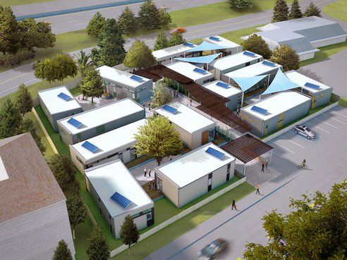 Blu Homes To Build Small Affordable Houses For The Poor Of Marin County Treehugger Prefab Homes Affordable Prefab Homes Homeless Housing